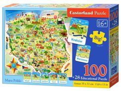 Castorland map Polish 100 el. and quiz Puzzle CA0010