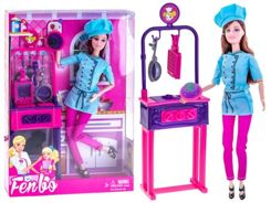 Doll chef + kitchen accessories ZA2055