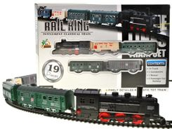 Electric train locomotive with cars RC0355