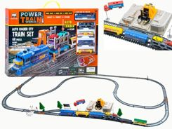 Freight train with STACJA railcar lift RC0385
