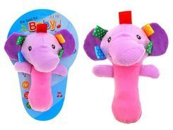 SOFT Rattle label Animal Plush ZA1571