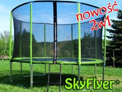 TRAMPOLINA SKYFLYER RING 2in1 366CM 12FT + Gratisy