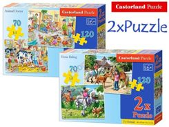 Castorland Puzzles 2in1 70 + 120 items Horses CA0011