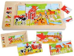 Educational wooden jigsaw puzzle Farma ZA1412