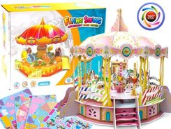 Puzzle 3D carousel lights spinning melody ZA1606