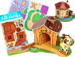 Puzzle 3D spatial house pet ZA 1526