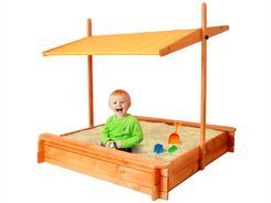 Wooden Sandbox with peak 120x120 cm SP0212